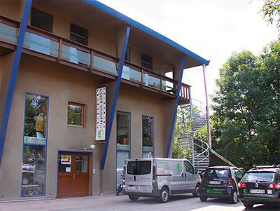 Firmengebäude der Firma Appl Druck auf der Wilferdinger Höhe in Pforzheim